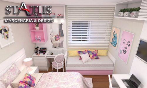 Conforto em quartos pequenos com móveis planejados